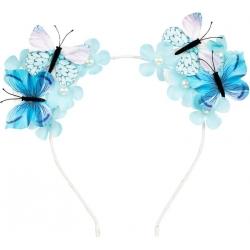 Serre-tête papillon bleu Scottie