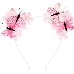 Serre-tête papillon rose Scottie