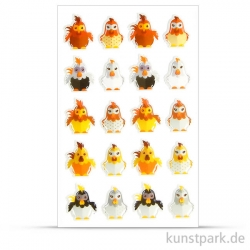 Cooky stickers Poules