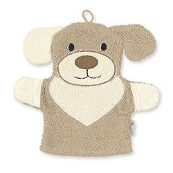 Gant de toilette marionnette chien