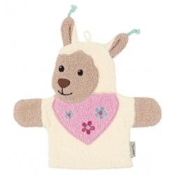Gant de toilette marionnette Lama