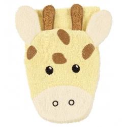 Gant de toilette marionnette Girafe
