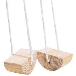 Échasse en bois avec corde