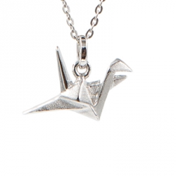 Bijoux origami collier oiseau