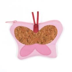 Porte monnaie papillon rose