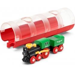 Train à vapeur avec tunnel