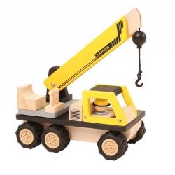 Camion grue en bois