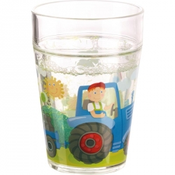 Gobelet paillettes - Tracteur