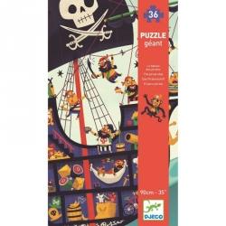 Puzzle géant 36 pièces - Le bateau des pirates