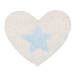 Bouillotte coeur bleu