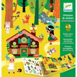 Histoire de stickers - Forêt magique