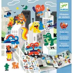 Histoire de stickers - Invasion des monstres