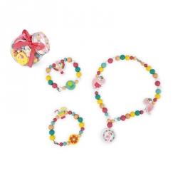 Bonbonnière de perles en bois - Flamant rose