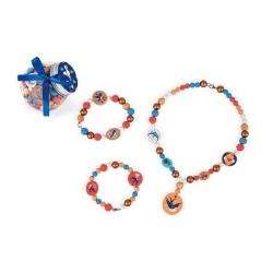 Bonbonnière de perles en bois - Hirondelle