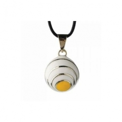 Bola blanc/jaune ligné