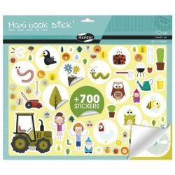 Maxi livre de stickers repositionnables - Jardin