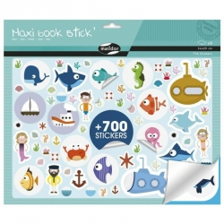 Maxi livre de stickers repositionnables - Mer