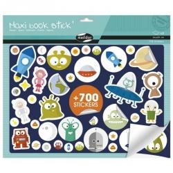 Maxi livre de stickers repositionnables - Espace