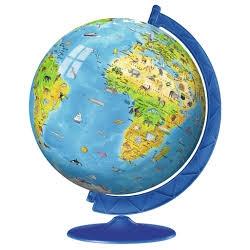 Globe puzzle 3D 180 pièces