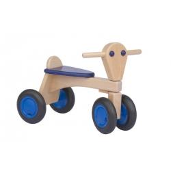 Trotteur en bois bleu