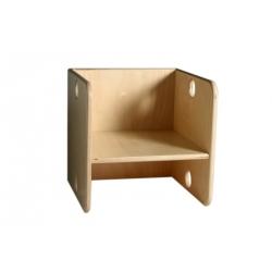 Chaise en bois Kubus