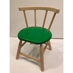 Chaise en bois vert