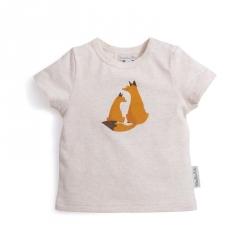 T-shirt crème imprimé renard Zoom 6 mois