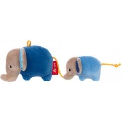 Hochet duo éléphant bleu