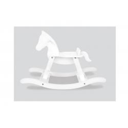 Cheval à bascule blanc