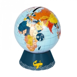 Tirelire globe terrestre