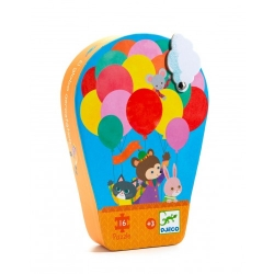 Puzzle silhouette 16 pièces - La montgolfière