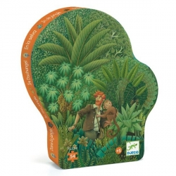 Puzzle silhouette 54 pièces - Dans la jungle