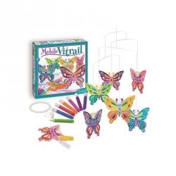 Mobile vitrail - Papillon