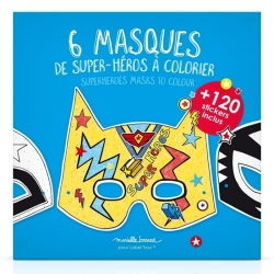 Masques de super-héros à colorier