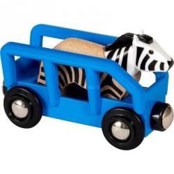 Wagon et zèbre