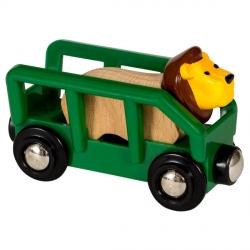 Wagon et lion