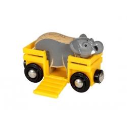 Wagon avec éléphant