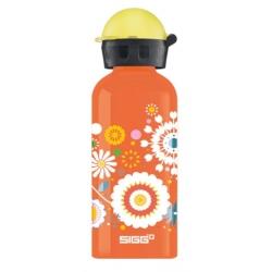 Gourde Sigg 0.4 L Fleurs orange