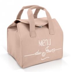 Lunch bag isotherme rose - Menu du jour