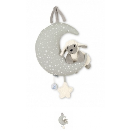 Peluche musicale lune grise