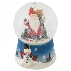 Boule à neige bleue Noël