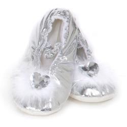 Chaussons de princesse argenté 24-25