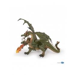 Dragon 2 têtes vert