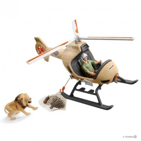 Hélicoptère de secours Schleich
