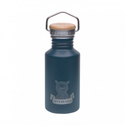 Bouteille thermos Aventure ours - bleu