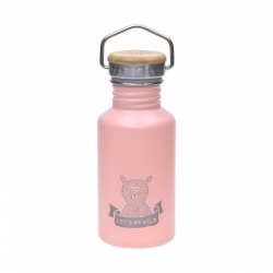Bouteille thermos Aventure ours - rose