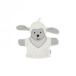 Gant de toilette marionnette Mouton