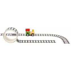 locomotive en bois avec ruban adhésif