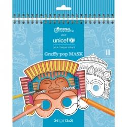 Graffy pop masques du monde Unicef