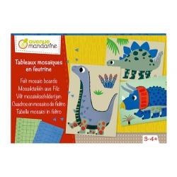 Tableaux mosaïque en feutrine - Dinosaure